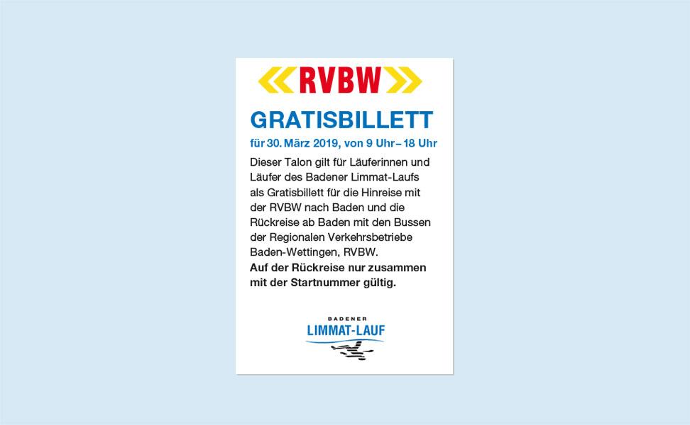 RVBW Gratisbillett
